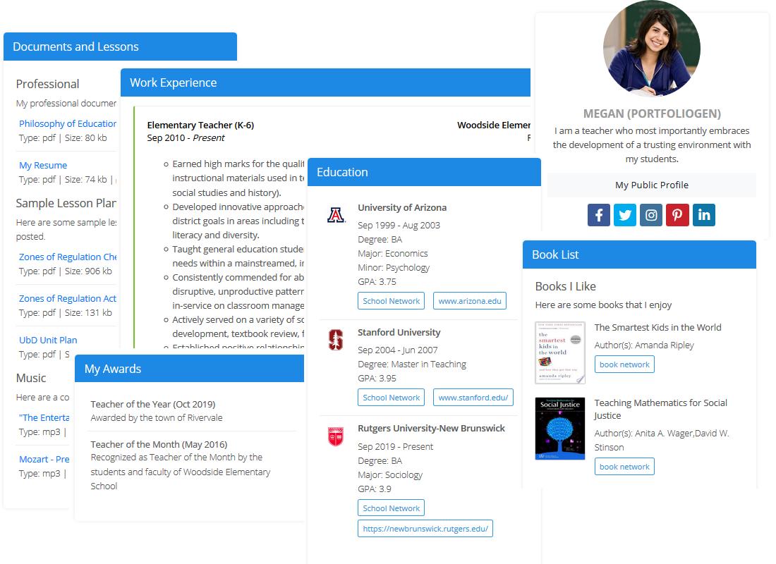 Digital Portfolio Websites For Teachers Students Educators